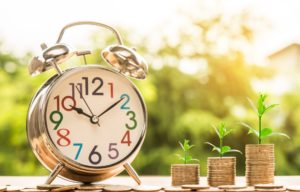 clock, money, growth